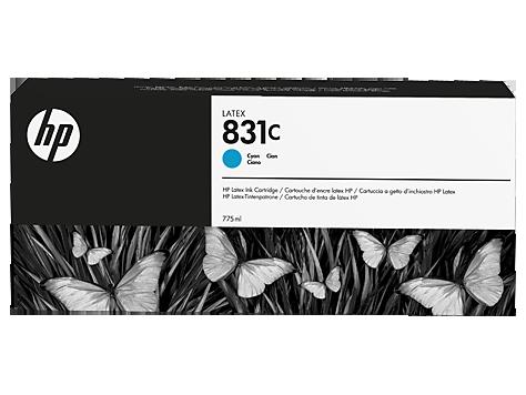 Cartuccia HP 831 Latex Ciano da 775 ml
