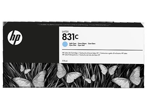 Cartuccia HP 831 Latex Light Ciano da 775 ml