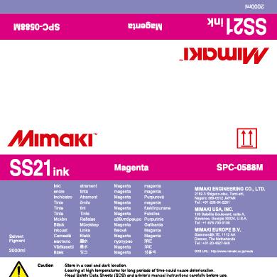 Sacca SS21 Mimaki 2 lt Magenta