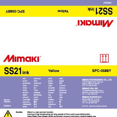 Sacca SS21 Mimaki 2 lt Yellow